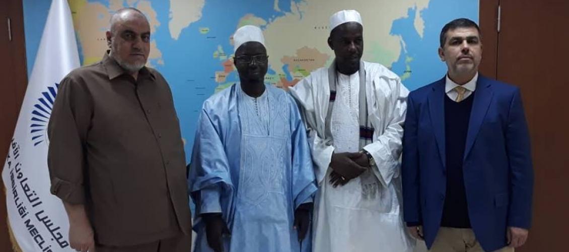 Münir Said, Senegal Cumhurbaşkanı Gezici Büyükelçisi ile Gansiye Çocukluk ve Gelişim Kurumu Başkanını Kabul Etti